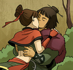 Sneers kissing with Kori.png