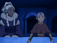 Aang and Yue