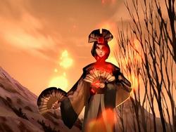 Avatar Kyoshi's burning statue