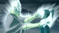 Aang restores Korra's bending