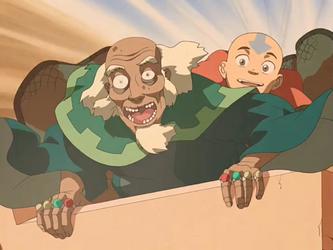 File:Aang and King Bumi.png