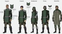 Kuvira's army uniforms