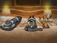 Team Avatar in their North Pole home