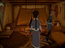 Inside Bato's tent