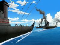 Fire Navy blockade