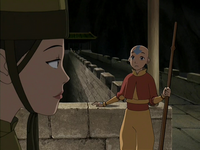 Suki and Aang