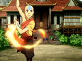 Aang training his firebending.png