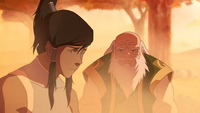 Korra and Iroh at Xai Bau's Grove