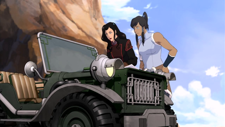File:Asami and Korra look at a map.png
