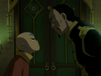 Aang and Long Feng