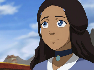 Katara smiles at coronation.png