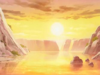 Landscape at sunrise