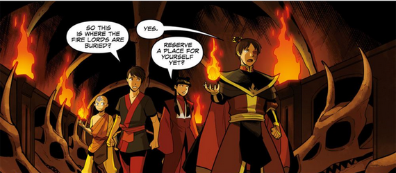 File:Zuko, Aang, Kei Lo, and Mai in the Dragonbone Catacombs.png