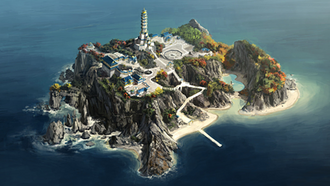 Air Temple Island overview
