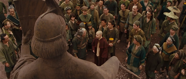 File:Film - Aang with Kyoshi villagers.png