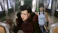 Asami and Korra in the cockpit.png