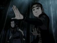Aang and Sokka face Hama