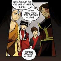 Aang, Mai, Kei Lo, and Zuko decide to explore the tunnel