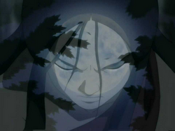 Katara feels the moon's power