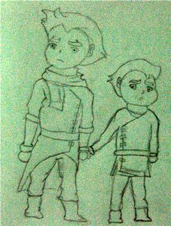 Chibi Mako and Bolin1