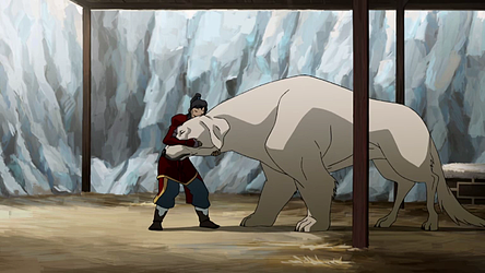 File:Korra and Naga.png