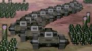 Kuvira's army tanks
