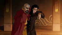 Asami supporting Tenzin