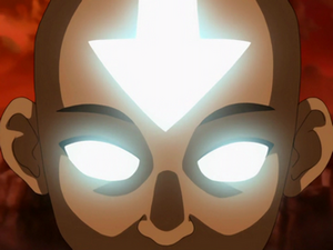 Aang controls the Avatar State