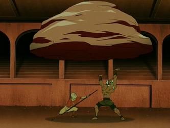 File:Aang vs Bumi.png