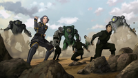 Beifongs versus Earth Empire soldiers