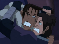 Sokka and Hahn fight