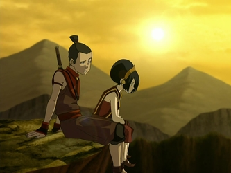 File:Sokka and Toph.png