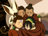Team Avatar group hug