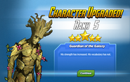 Character Upgraded! Groot Rank 5