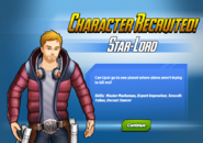 Character Recruited Star-Lord