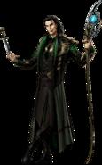 Loki Right Portrait Art