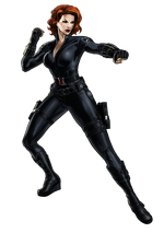 Avengers Black Widow Portrait Art