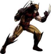 Brown-and-Tan Wolverine Portrait Art