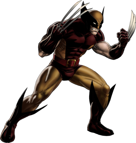 File:Brown-and-Tan Wolverine Portrait Art.png