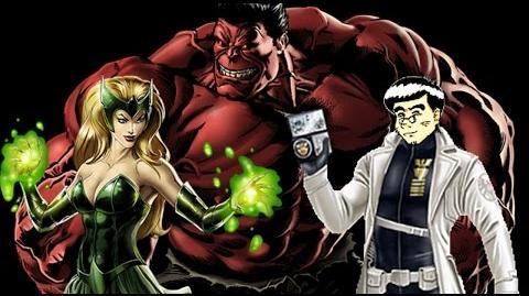 PVP 23 Enchantress & Red Hulk (Adamantium League) Marvel Avengers Alliance