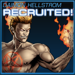 Daimon Hellstrom Recruited