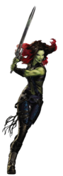 Guardian Gamora Portrait Art