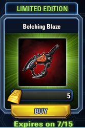 Limited Edition belching blaze