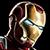 Iron man combat portrait
