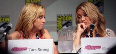 Tara Strong and Elizabeth Daily