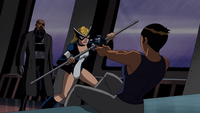 Maria aiming at Fury and Mockingbird