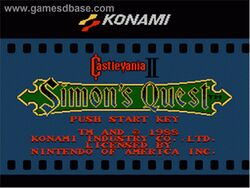 Castlevania 2 title screen