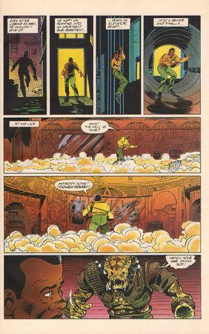 File:Harrigan chases Predator (comic).jpg