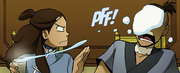 Katara waterbending snowball at Sokka.png