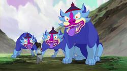 Lion dog spirits